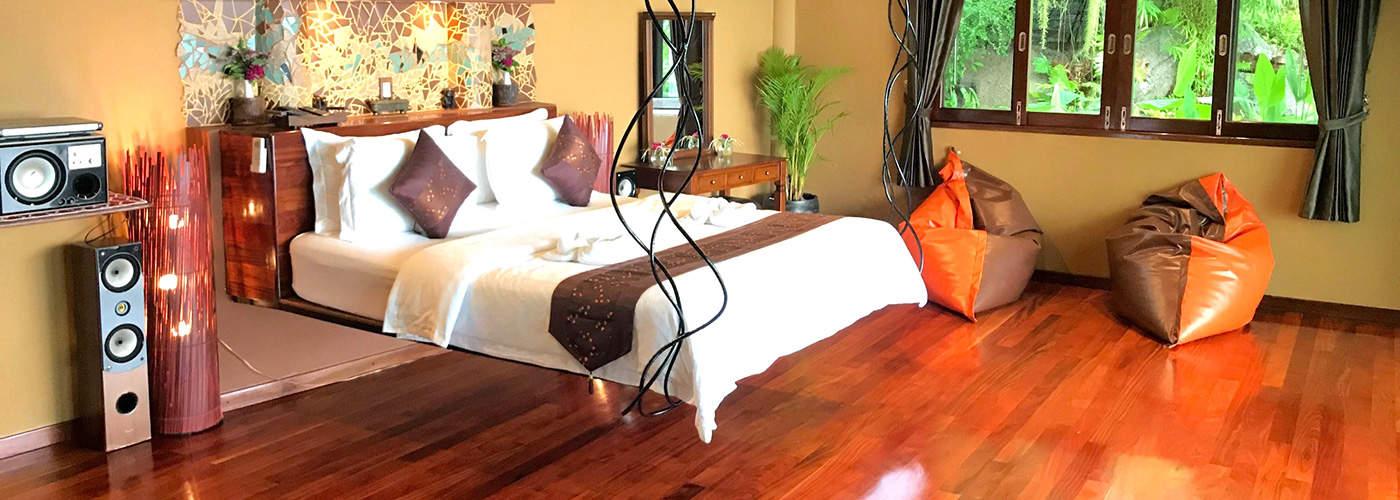 Upper Villa Master Bedroom Koh Tao Thailand