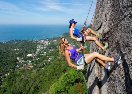 abseiling rock climbing on Koh Tao