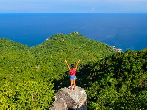 hiking on koh tao island
